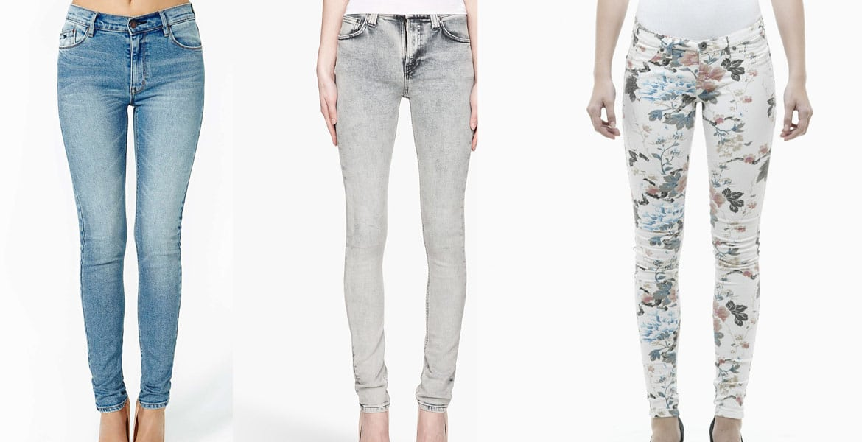 облегающие джинсы с лайкрой