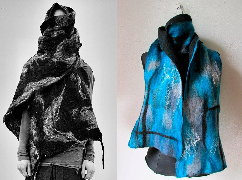 шарфы из войлока или фетра