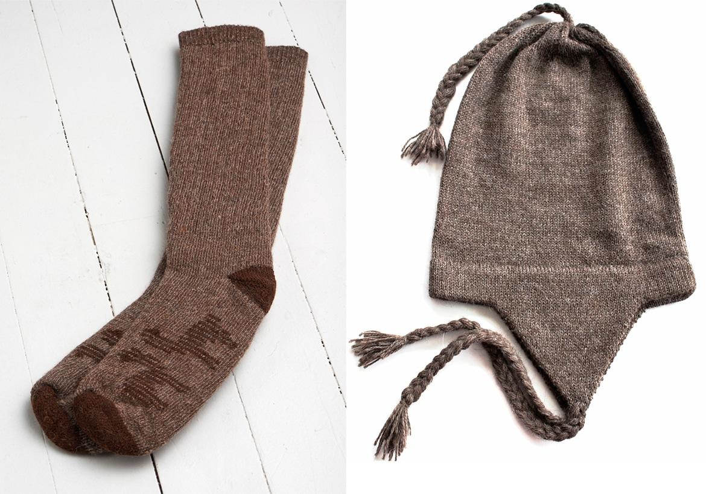 носки и шапка аз альпаки