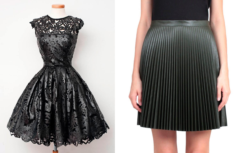 юбка и платье из экокожи