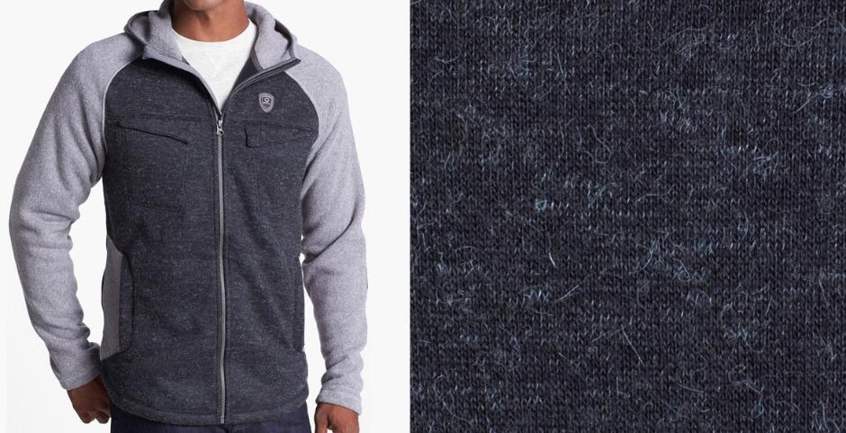 крупный вид плетения ткани из акрила