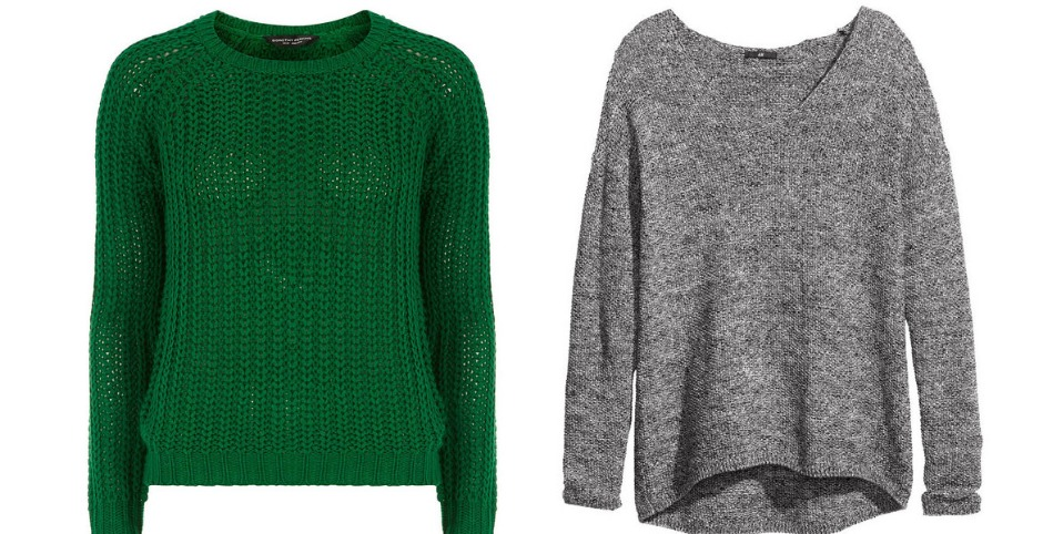 плетеные свитера из акрила
